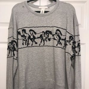Horse Crop Sweater